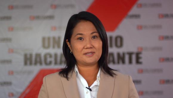 Keiko Fujimori participó de forma virtual, en dos videos previamente grabados, para el Foto Iberoamericano: Desafíos de la Libertad. (Foto: Captura)