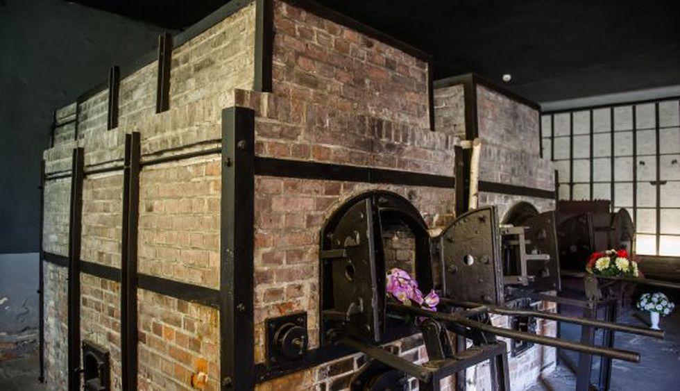 Crematorio en el antiguo campo de concentración nazi alemán Stutthof en Sztutowo, al norte de Polonia. (Foto: AFP)
