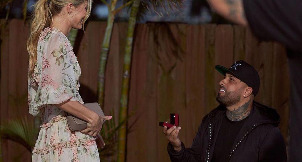 Nicky Jam le propuso matrimonio a su novia Cydney Moreau. (Foto: Instagram)