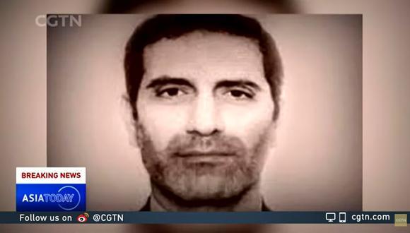 Captura de pantalla del noticiero Asia Today, en el que se ve el rostro de Assadollah Assadi.