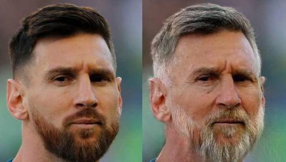 Así se vería Lionel Messi si fuera viejo. | FaceApp