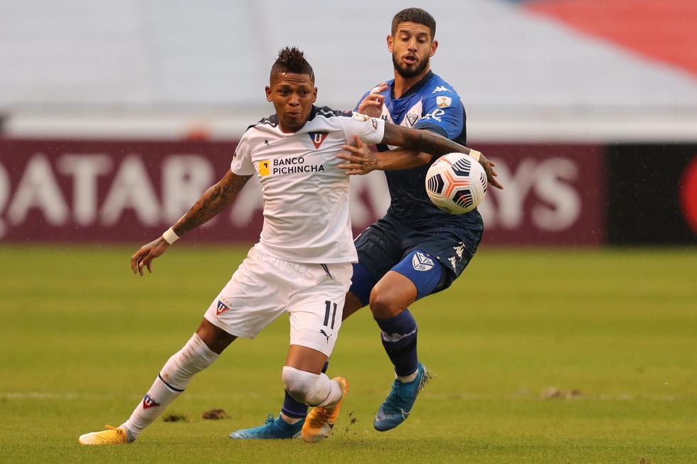 LDU enfrentó a Vélez Sarsfield por la Copa Libertadores