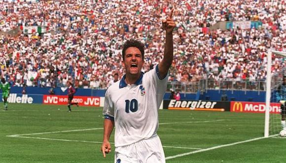 Roberto Baggio durante la Copa del Mundo 1994. (Foto: AP)