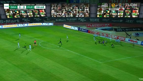El atacante paraguayo Darío Lezcano  abrió el marcador a favor de Juárez FC apenas a los 6 minutos de juego ante Puebla. (Foto: captura de pantalla)