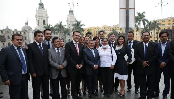 Alianza para el Progreso, cuyo líder es César Acuña, consultó al JNE si congresistas del actual y anterior periodo pueden postular (Foto: Grupo El Comercio)