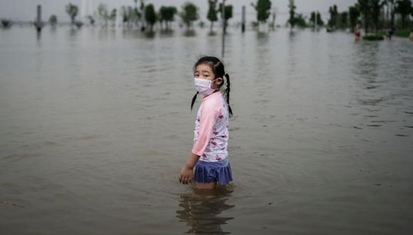 En Zhengzhou, en un solo día cayeron 624 mm de lluvia, el equivalente a casi un año entero. (GETTY IMAGES)