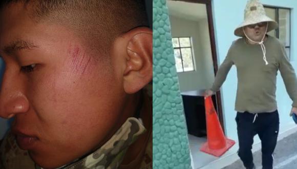 Arequipa: soldado denuncia que sujeto lo abofeteó en puesto de control (Fuente: captura de video/ PNP)