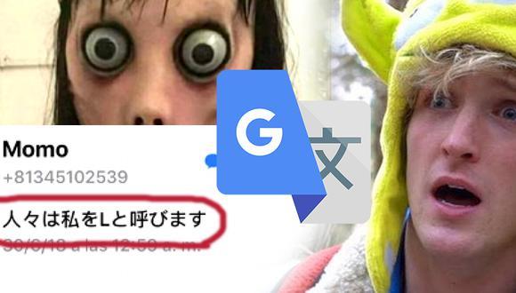 """""""Momo"""" en Google Tranlate (Foto: montaje)"""