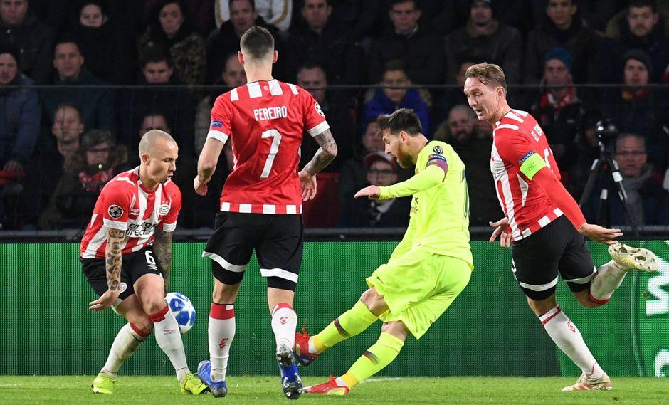 Barcelona vs. PSV: Messi anotó el 1-0 con este golazo que puso de pie a hinchas en Holanda. (Foto: Reuters)