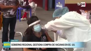 Ancash: Gobierno Regional gestiona compra de vacunas en EE.UU