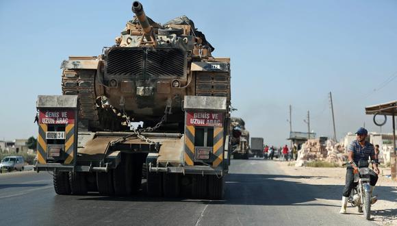 """""""Vehículos turcos cargados de municiones"""" se """"dirigen hacia Jan Sheijun para socorrer a los terroristas"""", dijo una fuente del ministerio sirio de Relaciones Exteriores. (Foto: AFP)"""