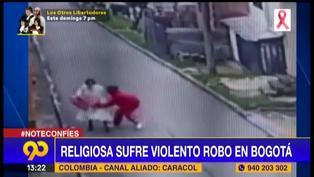 Colombia: Ladrón agrede a una monja para robarle celular