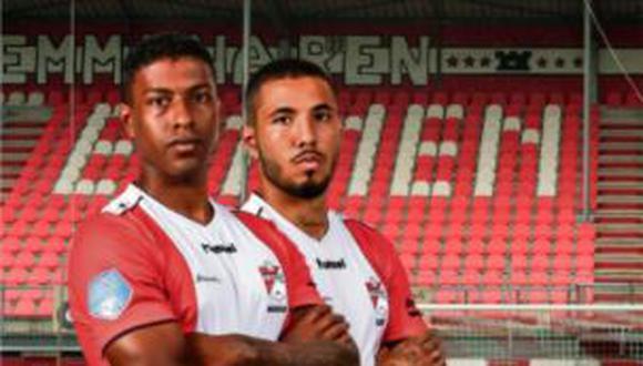 Sergio Peña y Miguel Araujo buscarán mantenerse en la máxima competición de Holanda con el FC Emmen. (Foto: Captura)