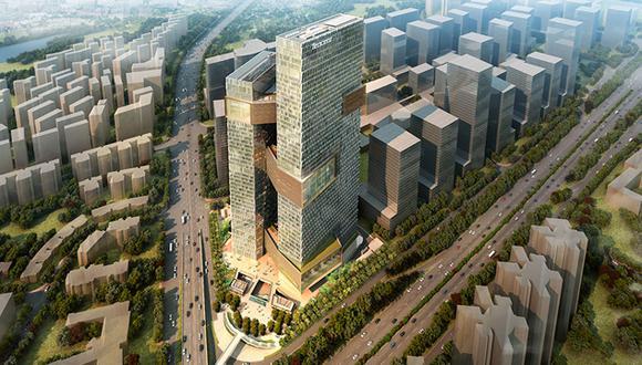 El edificio Tencent. (Foto: nbbj.com)