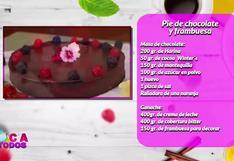 Pie de chocolate y frambuesa en sencillos pasos