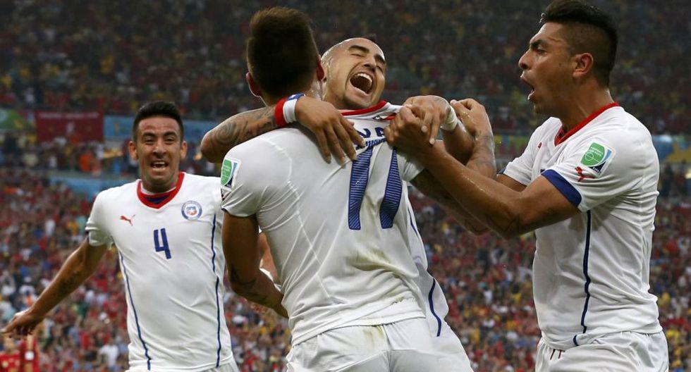 El desenfrenado festejo de Chile tras enviar a España a casa - 9