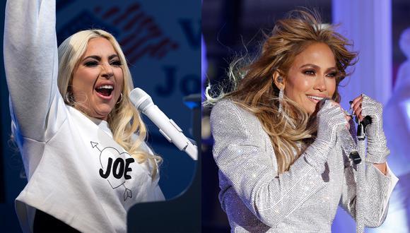 Lady Gaga cantará el himno norteamericano, mientras que Jennifer Lopez brindará un espectáculo musical en la ceremonia de investidura presidencial (Foto: Jim Watson y Gary Hershom para AFP)