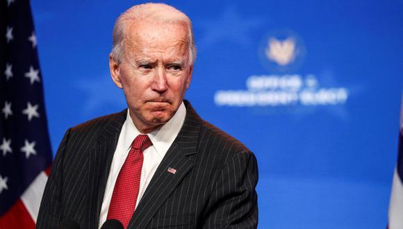 El presidente electo de Estados Unidos, Joe Biden, habla con los periodistas luego de una reunión en Wilmington, Delaware, el 19 de noviembre de 2020. (REUTERS/Tom Brenner).