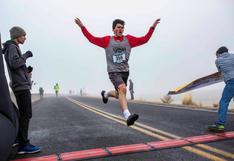 Benjamin Pachev, el joven atleta de EEUU que compite en distintas pruebas con un singular calzado