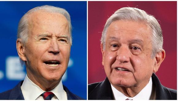 El presidente electo Joe Biden y su homónimo mexicano Andrés Manuel López Obrador. (Foto: Alex Edelman/ AFP / EFE / Cortesía de la Presidencia de México).