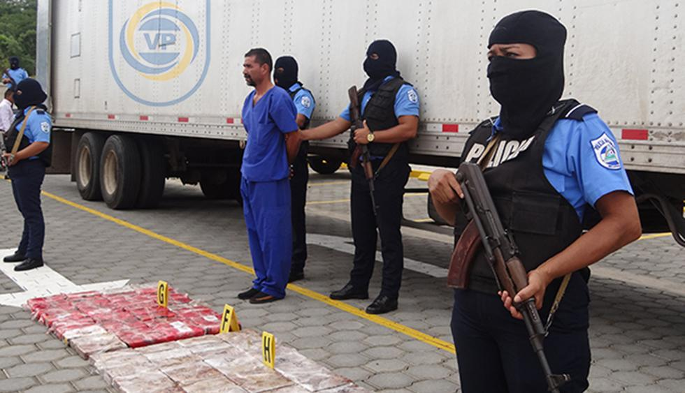 Autoridades nicaragüenses capturaron a ciudadano de Guatemala con más de 100 kilos de cocaína. (Foto: www.policia.gob.ni)
