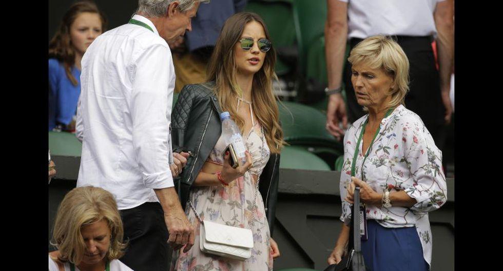 La esposa del checo no se ha perdido ningún partido en Wimbledon. (Foto: Agencias)