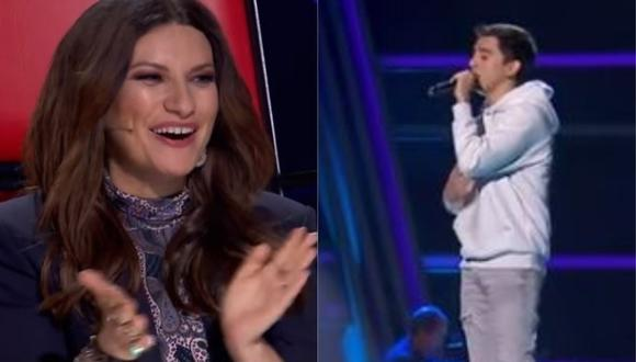 """La Voz"": Peruano impresionó a Laura Pausini con interpretación de ""Earned it"".(Foto: captura de video)"