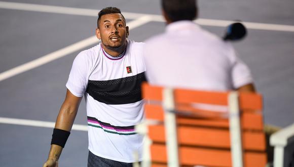 Rafael Nadal y Kyrgios regalaron un gran partido en México. El australiano se llevó la victoria pero el encuentro dejó muchas polémicas. (Foto: AFP).