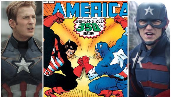 Pelea entre los Capitán América. A la izquierda Steve Rogers, interpretado por Chris Evans en el MCU. A la derecha John Walker, interpretado por Wyatt Russell. (Foto: Marvel Studios/Marvel Comics)