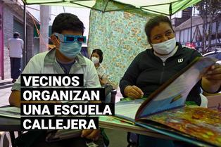 México: Vecinos organizan una escuela callejera para apoyar a niños de escasos recursos