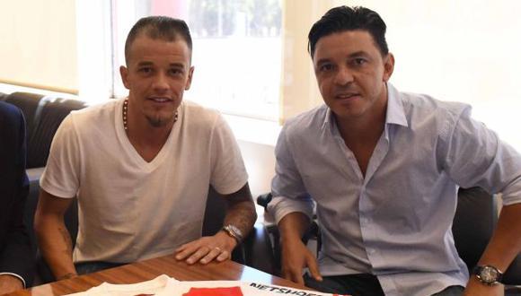 D'Alessandro y Marcelo Gallardo coincidieron en River Plate entre el 2016 y 2017. (Foto: River Plate)