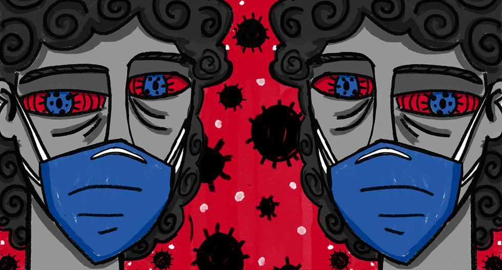 En la variante de Manaos se produjeron cambios en los genes que codifican en los genes que condifican la espícula, la estructura en la superficie del virus que le permite invadir las células de nuestro cuerpo. (Ilustración: Giovanni Tazza)