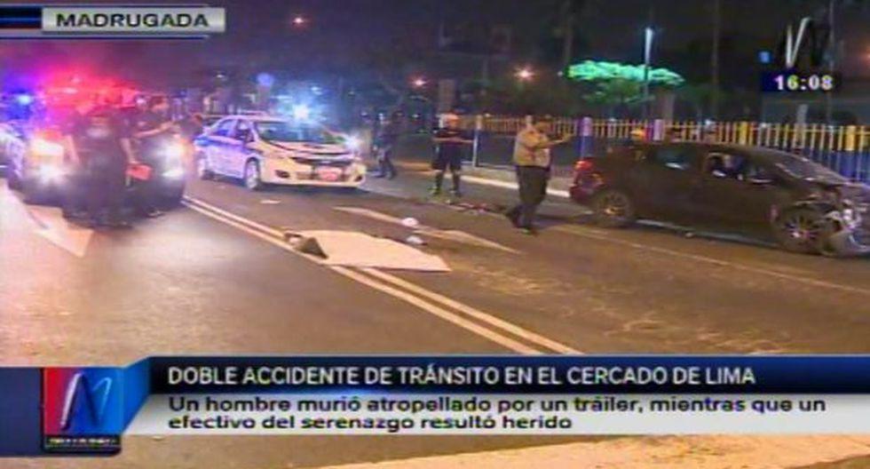 Lima: dos personas mueren atropelladas en Semana Santa