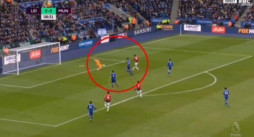Marcus Rashford marcó el 1-0 para el Manchester United ante le Leicester City en la Premier League. (Foto: Captura).
