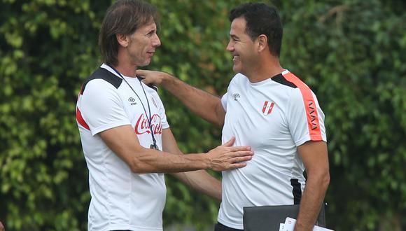 Todavía es incierto si Ricardo Gareca seguirá al frente de la selección peruana. Mientras que Daniel Ahmed es el actual jefe de la Unidad Técnica de Menores. (Foto: USI)