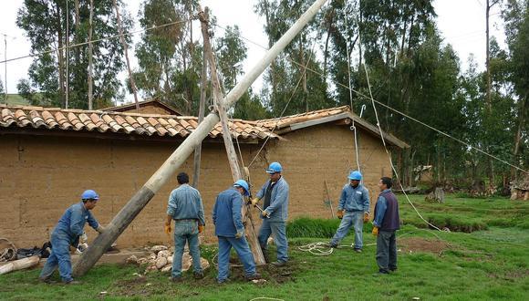 La Dirección General de Electrificación Rural informó que 21 proyectos de electrificación rural se licitarán este año y beneficiarán a 60.256 viviendas. (FOTO: GEC)