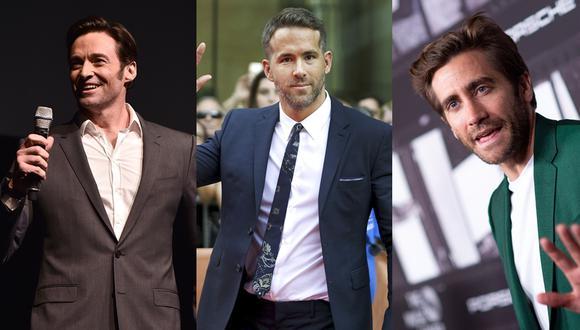 Ryan Reynolds fue víctima de broma por sus amigos Hugh Jackman y Jake Gyllenhaal. Fotos: Agencias.