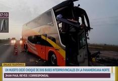 Huaura: al menos un muerto y 20 heridos dejó choque entre dos buses interprovinciales | VIDEO