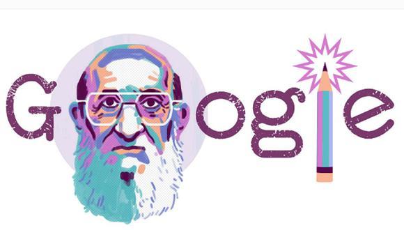 Paulo Freire es homenajeado con un doodle. (Foto: Google)