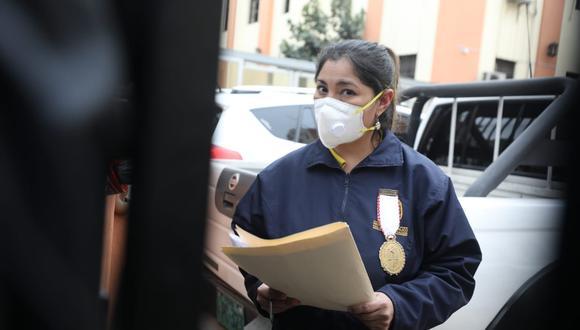 La fiscal Huacchillo se abstuvo de pronunciarse sobre si el presidente Martín Vizcarra está involucrado directamente en el caso. (Foto: Britanie Arroyo / @photo.gec)
