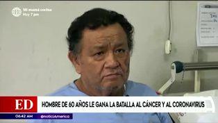 Coronavirus en Perú: hombre de 60 años vence al cáncer y a la COVID-19