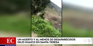 Cusco: Huaico en Santa Teresa dejó un fallecido y al menos 20 desaparecidos