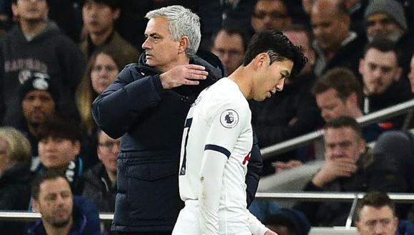 Heung-Min Son sufrió la lesión en el duelo ante Aston Villa por la Premier League. (Foto: AFP)
