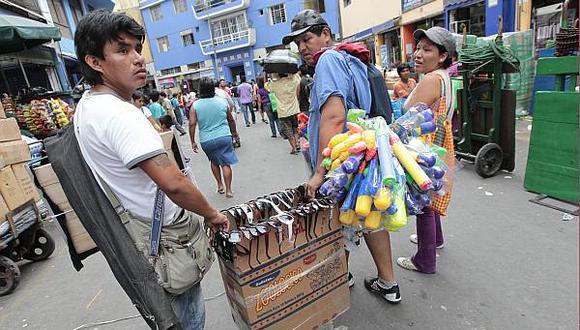 De cada S/.100 producidos en el Perú, S/.19 fueron informales