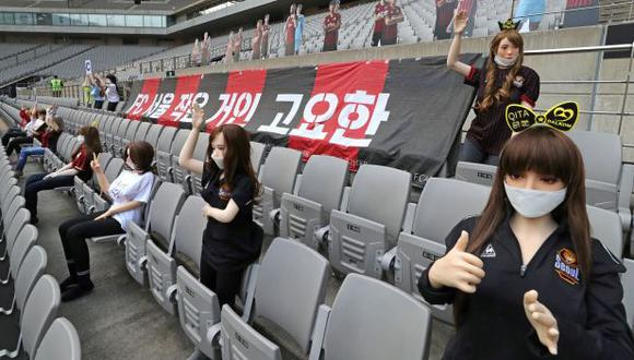 Así lució una tribuna del Estadio Mundialista de Seúl. (Foto: AFP)