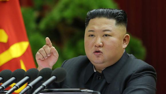 El líder de Corea del Norte Kim Jong-un en una imagen del 28 de diciembre del 2019. (Foto: AFP).