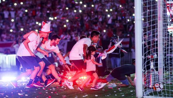 Gonzalo Martínez recreó el tercer gol de River Plate frente a Boca Juniors   Foto: Reuters