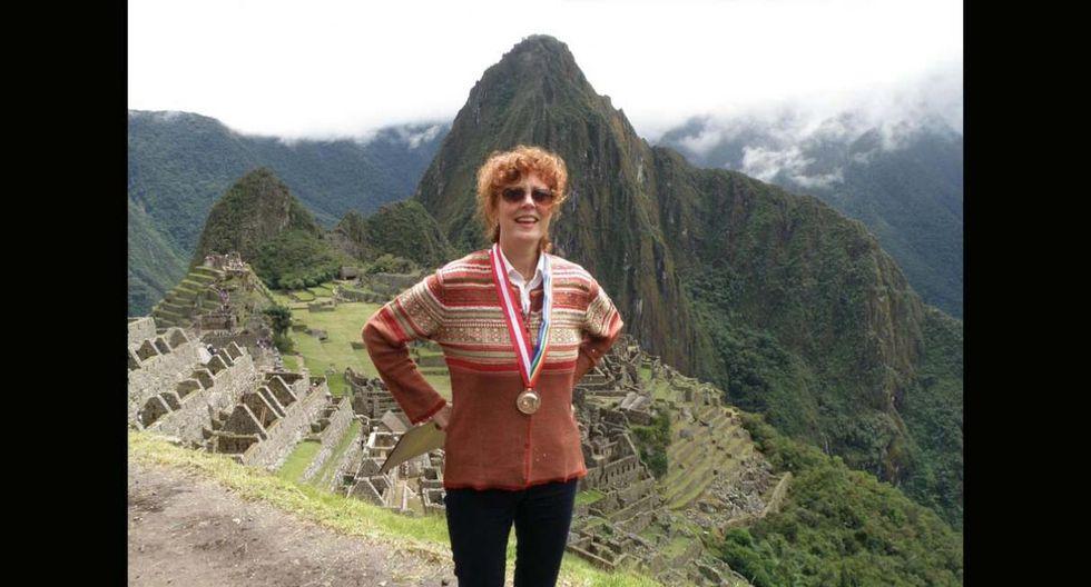 Susan Sarandon. La actriz ganadora del Óscar visitó en el 2010 los distintos atractivos de Cusco. Machu Picchu,Sacsayhuamán y el Valle Sagrado fueron parte de su itinerario.(Foto: Andina / Percy Hurtado)