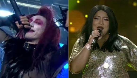 Mike Bravo y Carmen Castro, imitadores de Marilyn Manson y La India respectivamente, empataron por segunda noche consecutiva. (Foto: Captura de video)
