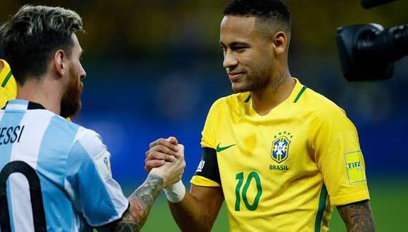 El Brasil de Neymar y el Argentina se Messi no se han enfrentado en una final de Copa del Mundo. (Foto: GEC)